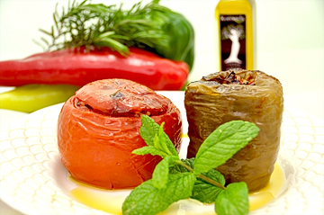 Gemista (stuffed vegetables) for 6 people