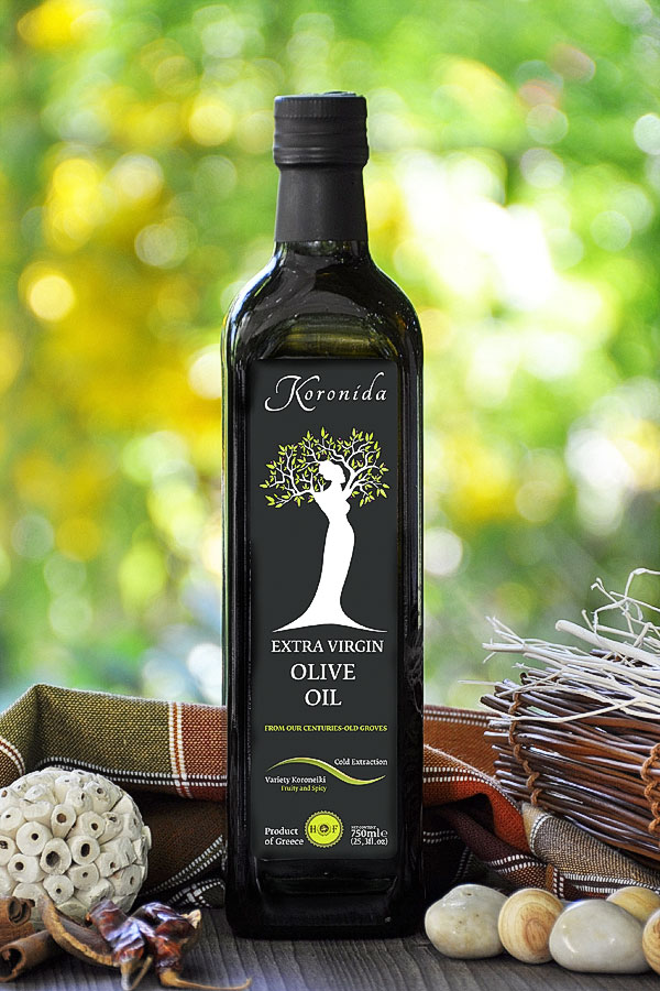 750ml EXTRA VIRGIN OLIVE OIL <<KORONIDA>>