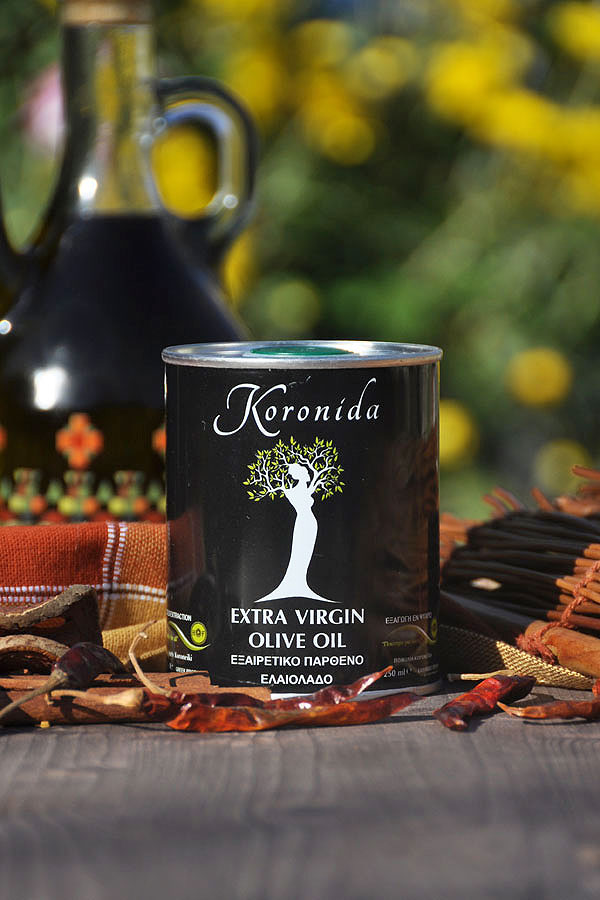 250ml EXTRA VIRGIN OLIVE OIL <<KORONIDA>> ( TIN PACKAGE )